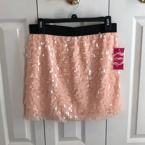 New Candie's sparkle sequence pink skirt CUTE!